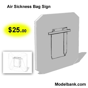air sickness bag for $25