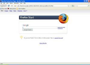 firefox start page