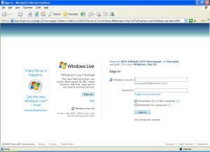 IE 6 default start page