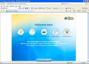 IE 7 default start page