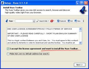Do not Vuze.com me, please
